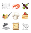 set restaurant vector image