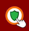 shield icon guard protectionl concept hand mouse vector image vector image