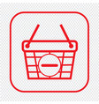 thin line shopping basket icon design vector image