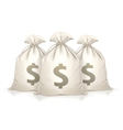 Three bags of money vector image vector image
