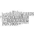 what is pontoon text word cloud concept vector image vector image