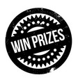 win prizes rubber stamp vector image vector image