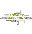 word cloud loyalty marketing vector image vector image