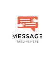 message communication logo design template symbol vector image