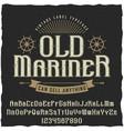 old mariner vintage poster vector image