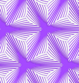 3D colored purple geometrical striped flower vector image