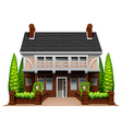 A beautiful house vector image