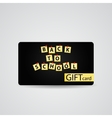 Abstract Beautiful Back to School Gift Card vector image