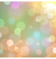 background with bokeh defocused lights vector image vector image