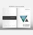 blue triangle geometric annual report brochure