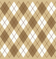 brown beige and white seamless argyle pattern vector image vector image