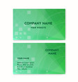 business card green plants on the planet earth vector image