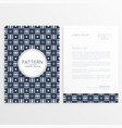 business letterhead design with abstract pattern vector image vector image