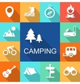 Camping icons Travel and Tourism concept vector image vector image