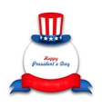 Celebration Card for Happy Presidents Day of USA vector image