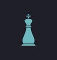 Chess king computer symbol vector image vector image