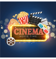 Cinema movie poster design template Popcorn vector image vector image