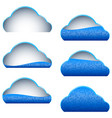 cloud computing storage blue icon binary filled vector image