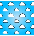 Clouds in blue sky Nature seamless summer vector image