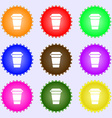 coffee icon sign Big set of colorful diverse vector image vector image