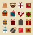 Color gift boxes icons collection vector image vector image