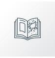 comic books icon line symbol premium quality vector image vector image