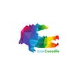 crocodile abstract triangle design vector image
