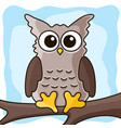 cute owl on the tree vector image vector image