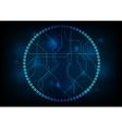 Dark technology circuit board design vector image vector image
