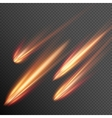 Different meteors comets and fireballs EPS 10 vector image