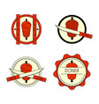doner kebab badge set vector image
