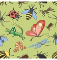 Doodle pattern insects vector image vector image