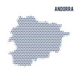 dotted map of andorra isolated on white background vector image vector image