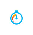fast time icon in minimalist style vector image