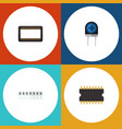 flat icon technology set of mainframe vector image vector image