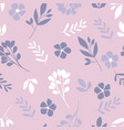 floral pattern in the small flower vector image vector image