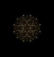 flower life symbol sacred geometry gold logo vector image vector image
