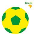flying brazil soccer or football ball image vector image vector image