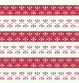 folklore floral stripes with red seamless vector image vector image