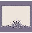 frame bouquet vintage vector image vector image