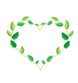 Fresh Green Leaves in A Beautiful Heart Shape vector image vector image