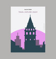 galata tower stanbul turkey vintage style vector image