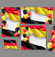 germany country patriotic templates set vector image vector image