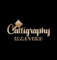 golden lettering logo design for art company vector image vector image