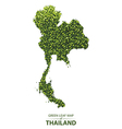 Green leaf map of thailand vector image