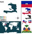 Haiti map world vector image vector image