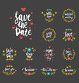hand drawn typography save the date quote vector image vector image