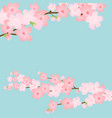 horizontal template with cherry blossom spring vector image