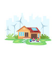 house with clean energy concept vector image