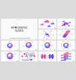 huge set of minimal infographic design layouts vector image vector image